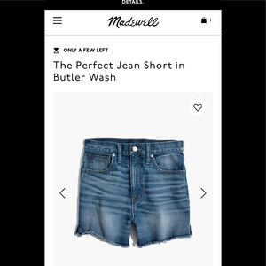 Made well high rise shorts NWT